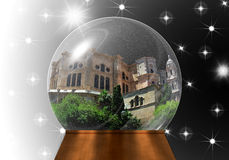 Глобус снега с собором Малаги внутрь Стоковая Фотография RF
