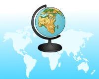 глобус Старый Мир карты иллюстрации вектор Стоковое Фото