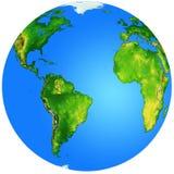 Глобус с Атлантическим океаном в центре Стоковое фото RF