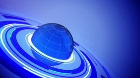 Глобус с космосом для вашего текста