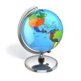 Глобус с политической картой на белой предпосылке Стоковое Изображение