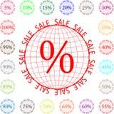 Глобус с продажей надписи Стоковые Изображения