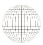 Глобус с решеткой иллюстрация вектора