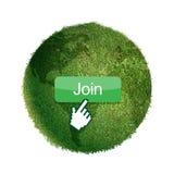 Глобус травы стоковое фото rf