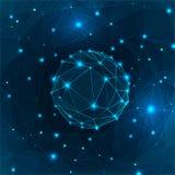 Глобус треугольника Стоковые Изображения