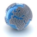 Глобус цифров иллюстрация штока