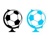 Глобус шарика футбола Игра мира Резвит аксессуар как spher земли Стоковое фото RF