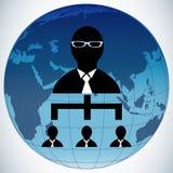 Глобус людей сыгранности Иллюстрация штока