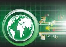 Глобус background.eps 10 Стоковая Фотография RF