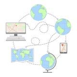 Глобус infographic, глобус мира Стоковые Фото