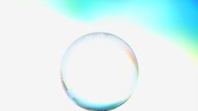 Глобус Spining через космос сток-видео