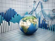 Гловальная принципиальная схема финансов Стоковое Изображение RF