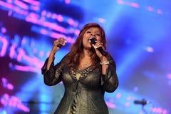 Глория Gaynor выполняя на фестивале выхода Стоковые Фото