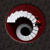 Глубокая опасная лестница Стоковое Фото