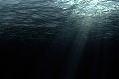 Глубокие темные океанские волны от подводной предпосылки Стоковое фото RF