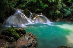 Глубокий водопад леса стоковая фотография
