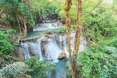 глубокий водопад Таиланда kanchanaburi пущи Стоковые Фотографии RF