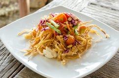 Глубокий зажаренный салат папапайи Стоковое Изображение RF