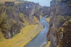 Глубокий каньон реки Стоковая Фотография