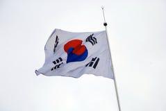 Глубокий флаг смысла Южной Кореи Стоковое Изображение
