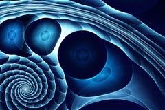 глубокое абстрактной предпосылки голубое Стоковая Фотография RF
