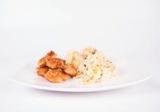 глубоко зажаренный цыпленок Стоковые Фото