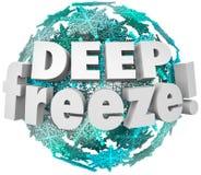 Глубоко - замерзните сфера снежинки шторма вьюги погоды зимы Стоковое Изображение