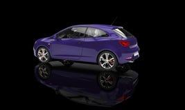 Глубоко - фиолетовый автомобиль стоковое фото