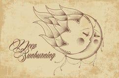 Глубоко sunburning Стоковые Изображения RF