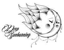 Глубоко sunburning стоковые изображения