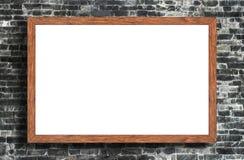 Глумитесь вверх по пустой рамке на стене как предпосылка Стоковая Фотография