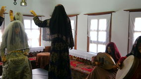 глумитесь вверх традиционной турецкой жизни деревни, safranbolu, индюка сток-видео