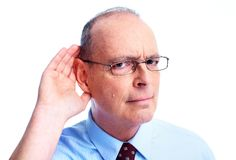 Глухой человек. Стоковые Фото