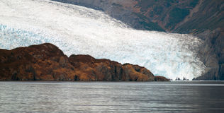 Глушь морского ландшафта поверхности воды ледникового льда акватическая Стоковое Фото