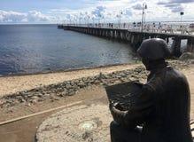 Гдыня Orlowo, Польша: люди на пристани на летний день стоковые изображения rf