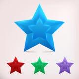 глянцеватая звезда Стоковые Изображения