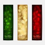 Глянцеватые рождественские открытки иллюстрация вектора