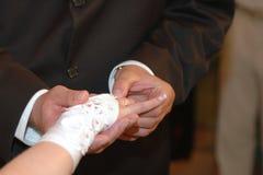 давать венчание кольца Стоковые Фото