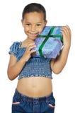 давать девушки подарка Стоковое Изображение