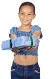 давать девушки подарка Стоковые Фотографии RF