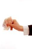 давать деньги руки Стоковые Изображения