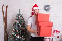 Давать и обмен подарка Стоковые Фото