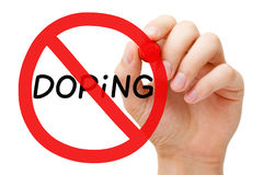 Давать допинг концепции знака запрета Стоковые Фотографии RF