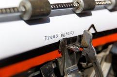 давление агенства Стоковая Фотография RF