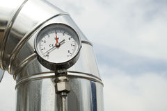 давление газового манометра Стоковое Изображение RF
