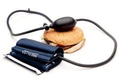 давление гамбургера тумака крови стоковые фотографии rf