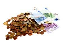 давление евро вниз Стоковые Изображения RF