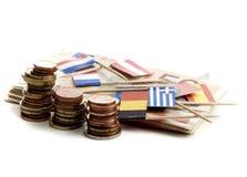давление евро вниз Стоковые Фотографии RF