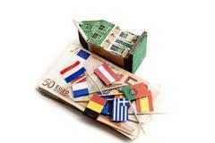 давление евро вниз Стоковое Изображение RF