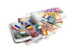 давление евро вниз Стоковые Фото